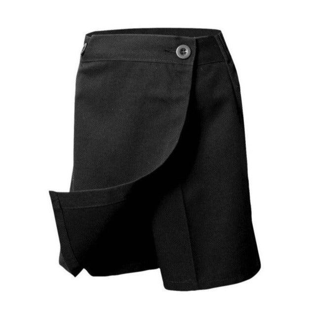 RC Uniforms Solid Black Flap Skort