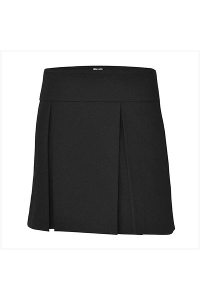 RC Uniforms Solid Black Flat Back Two-Pleat Skirt