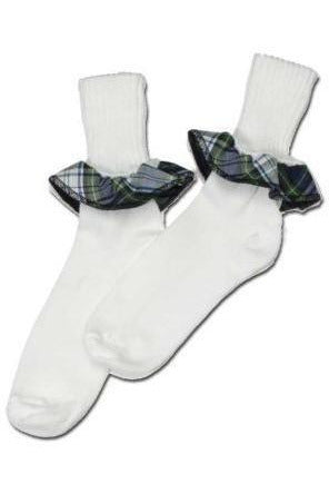 Plaid Ruffle Socks - RC Uniforms
