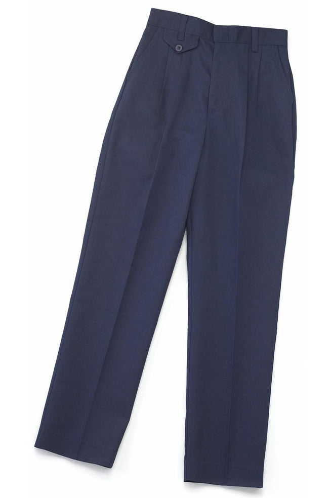 Girls Navy Pleated Pants - RC Uniforms