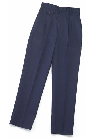 Girls Navy Pleated Pants