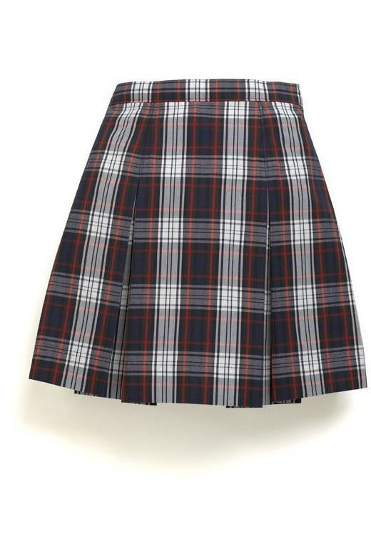 Plaid 49 Box Pleat Skirt - RC Uniforms