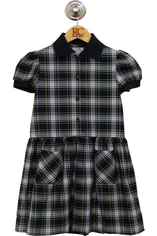 Green & White Plaid Alice Dress - RC Uniforms