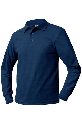 6th-8th Grade Long Sleeve Polo Shirt - RC Uniforms