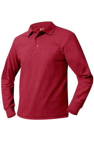 K-5th Grade Long Sleeve Polo Shirt - RC Uniforms