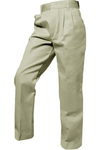 Boys Khaki Pleated Pants - RC Uniforms
