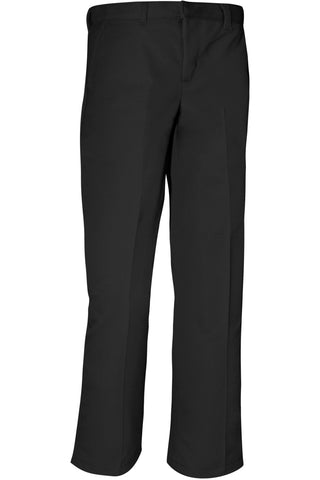 Boys Premium Label Black Flat Front Pants - RC Uniforms