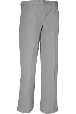 Boys Premium Label Gray Flat Front Pants - RC Uniforms