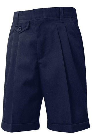 Girls Navy Pleated Shorts - RC Uniforms