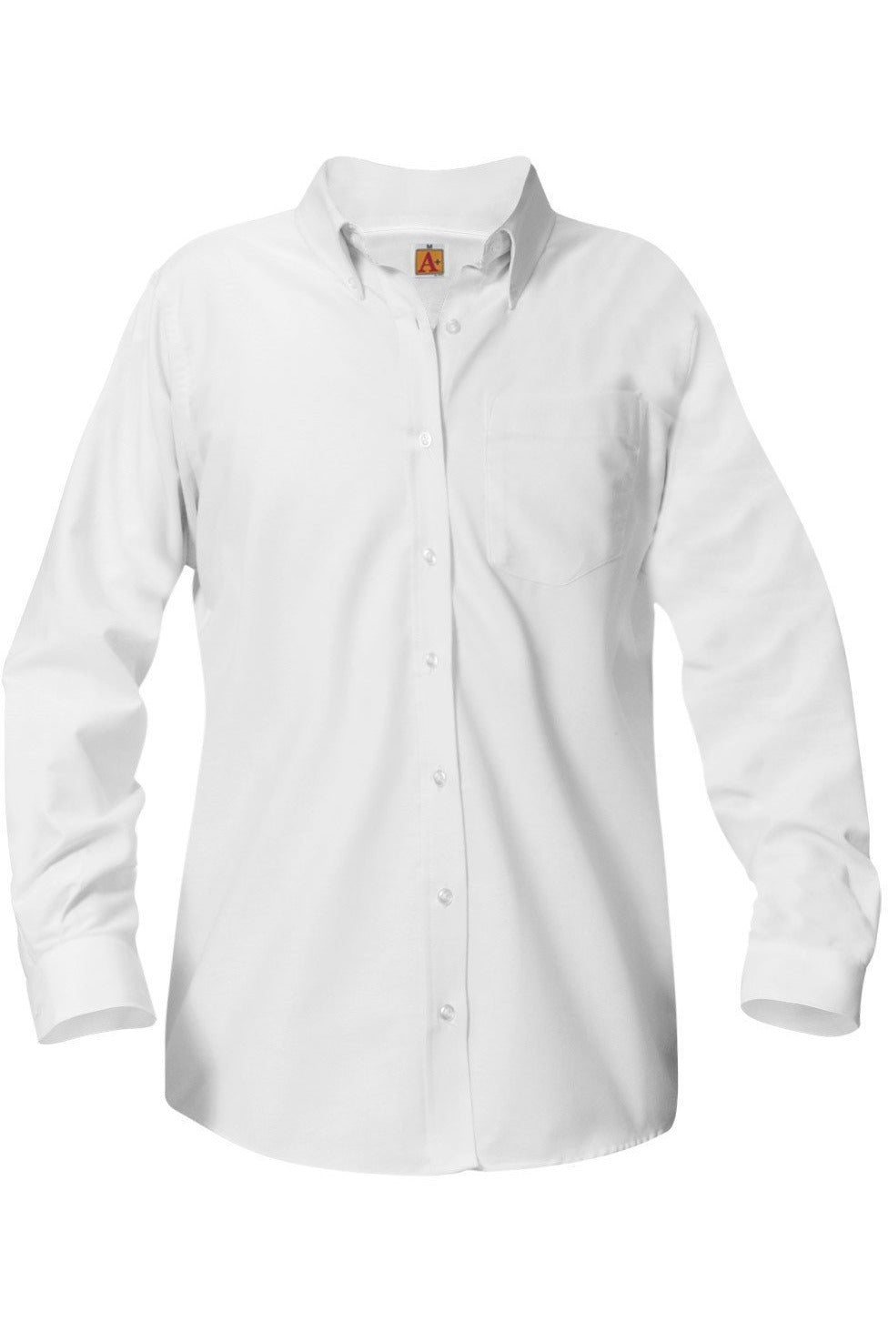 Ladies Long Sleeve Fitted Oxford Shirt - RC Uniforms