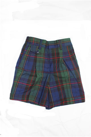 Girls Plaid 81 Pleated Shorts - RC Uniforms