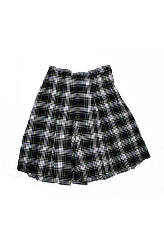 Green & White Plaid Culottes - RC Uniforms