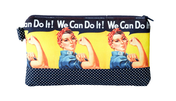 Rosie Riveter Zippered Pouch