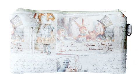 Alice in Wonderland Zippered Pouch