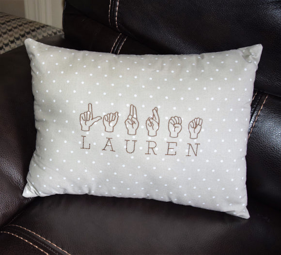 ASL Monogram Pillow