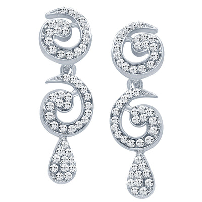 Sukkhi Glimmery Rhodium plated AD Stone Necklace Set-5