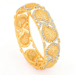 Sukkhi Gold Plated Flexible AD Kada - 1114VK1000
