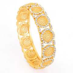 Sukkhi Gold Plated Flexible AD Kada - 1115VK750