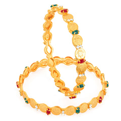 Sukkhi Gold Plated Color lord Lakshmi bangles - 1116VB750