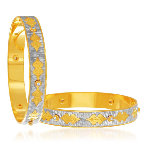 Sukkhi Ritzzy Gold and Rhodium Plated Dancing Bangles for Women