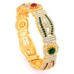 Sukkhi Gold Plated Color Stone Kada - 1150VK1250