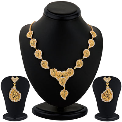 Sukkhi Gold Plated AD stone Necklace Stone - 1152VN1650