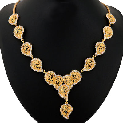 Sukkhi Gold Plated AD stone Necklace Stone - 1152VN1650-1