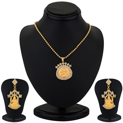 Sukkhi Gold Plated Lord Lakshmi Pendant Set - 1164VN1250