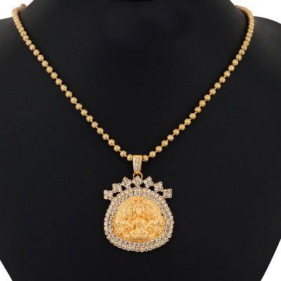 Sukkhi Gold Plated Lord Lakshmi Pendant Set - 1164VN1250-1