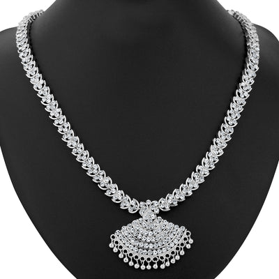 Sukkhi Rhodium Plated Necklace Set - 1165VN1750-1