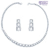 Pissara Rhodium Plated CZ Single string Solitaires Necklace Set - 1167VN6500