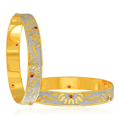 Sukkhi Excellent Gold and Rhodium Plated Dancing Bangles for Women