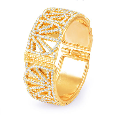 Sukkhi Gorgeous Gold Plated Mirror Polish AD Kada for Women