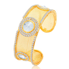 Sukkhi Charming Gold Plated AD Kada For Women