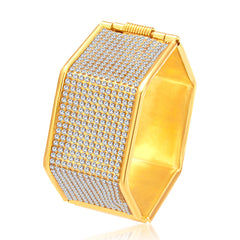 Sukkhi Ritzy Gold Plated AD Kada For Women