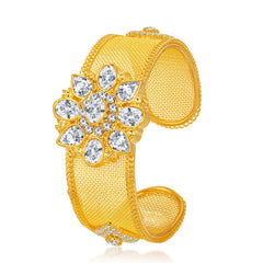 Sukkhi Designer Gold Plated American Diamond Kada For Women
