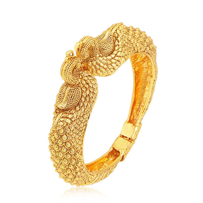 Sukkhi Fine Peacock Gold Plated Kada For Women