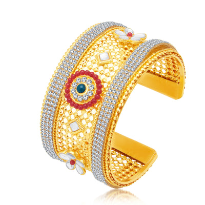 Sukkhi Ethnic Gold Plated AD Kada For Women