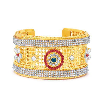 Sukkhi Ethnic Gold Plated AD Kada For Women-1