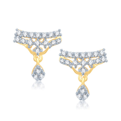 Pissara Gracefull Gold and Rhodium Plated Cubic Zirconia Stone Studded Mangalsutra Set-2