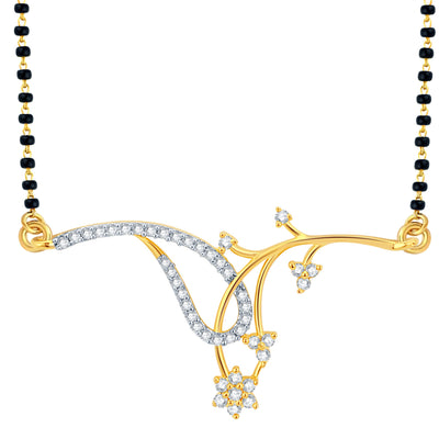 Pissara Exotic Gold and Rhodium Plated CZ Mangalsutra Set-1
