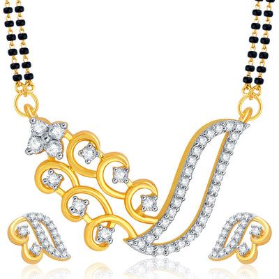 Pissara Traditionally Peacock Gold Plated CZ Set of 2 Mangalsutra Set Combo For Women-2