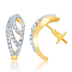 Pissara Enchanting Gold and Rhodium Plated CZ Earring