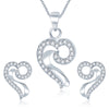 Pissara Appealing Rhodium plated CZ Pendant Set
