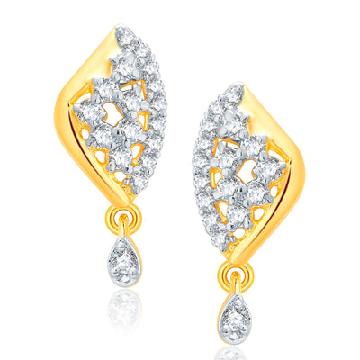 Pissara Glitzy Gold And Rhodium Plated CZ Mangalasutra Set For Women-2