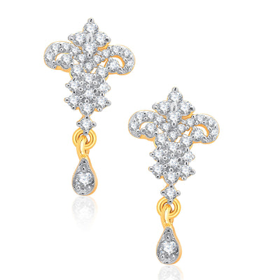 Pissara Vivacious Gold And Rhodium Plated CZ Mangalasutra Set For Women-2