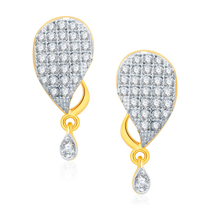 Pissara Joyous Gold And Rhodium Plated CZ Mangalasutra Set For Women-2