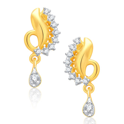 Pissara Magnificient Gold And Rhodium Plated CZ Mangalasutra Set For Women-2