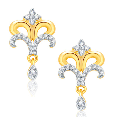 Pissara Cute Gold And Rhodium Plated CZ Mangalasutra Set For Women-2