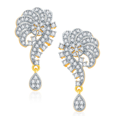 Pissara Beautiful Gold And Rhodium Plated CZ Mangalasutra Set For Women-2